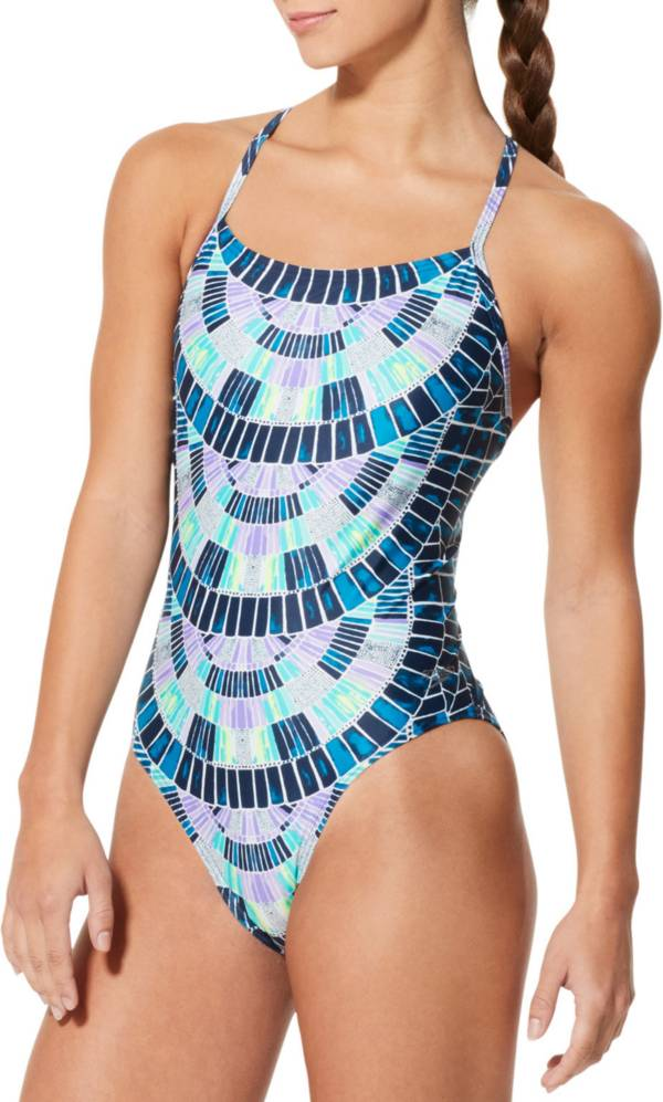 Speedo Women's Mosaic Maze Relay Back One Piece Swimsuit product image
