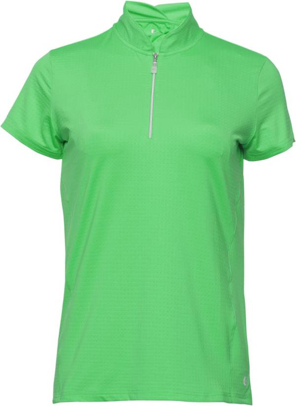 Bette & Court Women's Petal ¼-Zip Mock Neck Golf Polo product image
