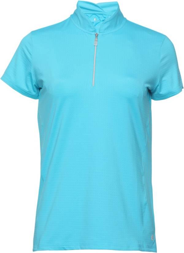 Bette & Court Women's Petal ¼-Zip Mock Neck Golf Polo product image