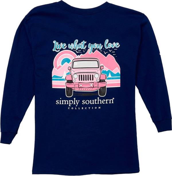 Simply Southern Girls' Mountain Long Sleeve T-Shirt product image