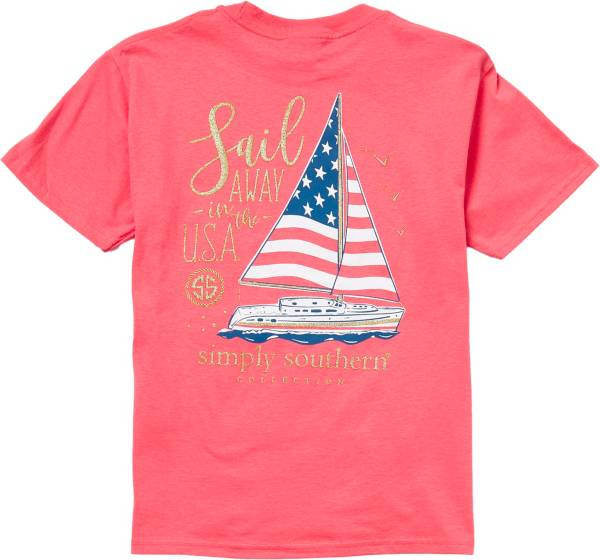 Simply Southern Girl's Short Sleeve Sail USA T-Shirt product image