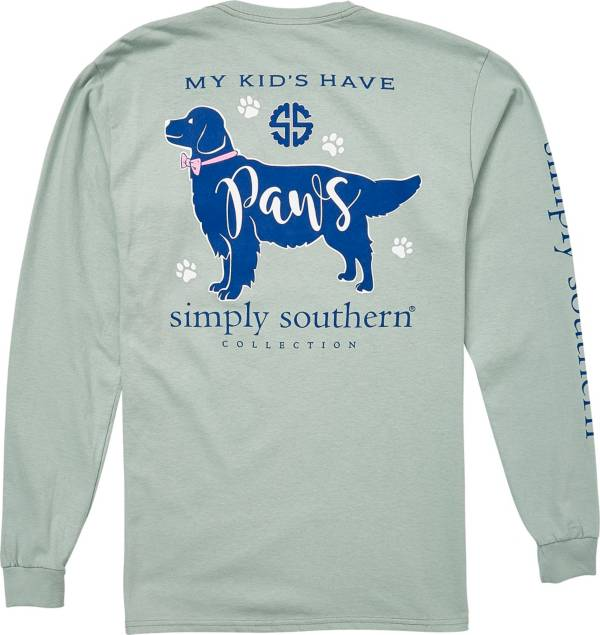 Simply Southern Women's Paws Long Sleeve T-Shirt product image