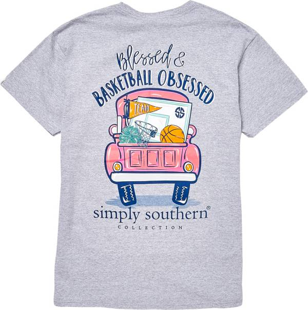 Simply Southern Women's Basketball Short Sleeve T-Shirt product image