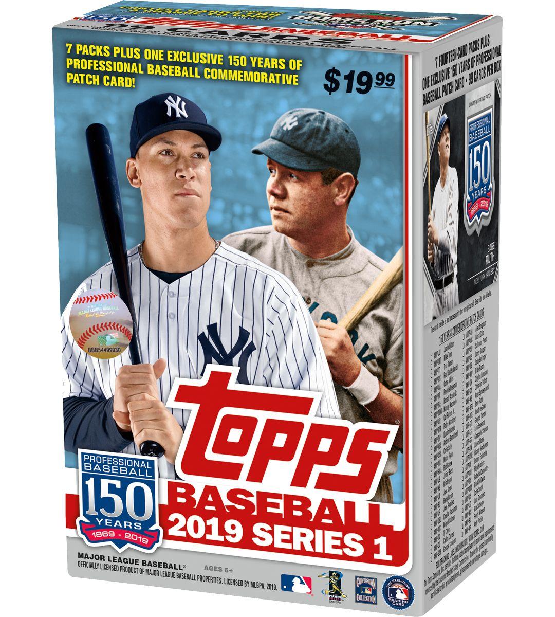 Topps Mlb 2019 Series One Trading Card Blaster Box