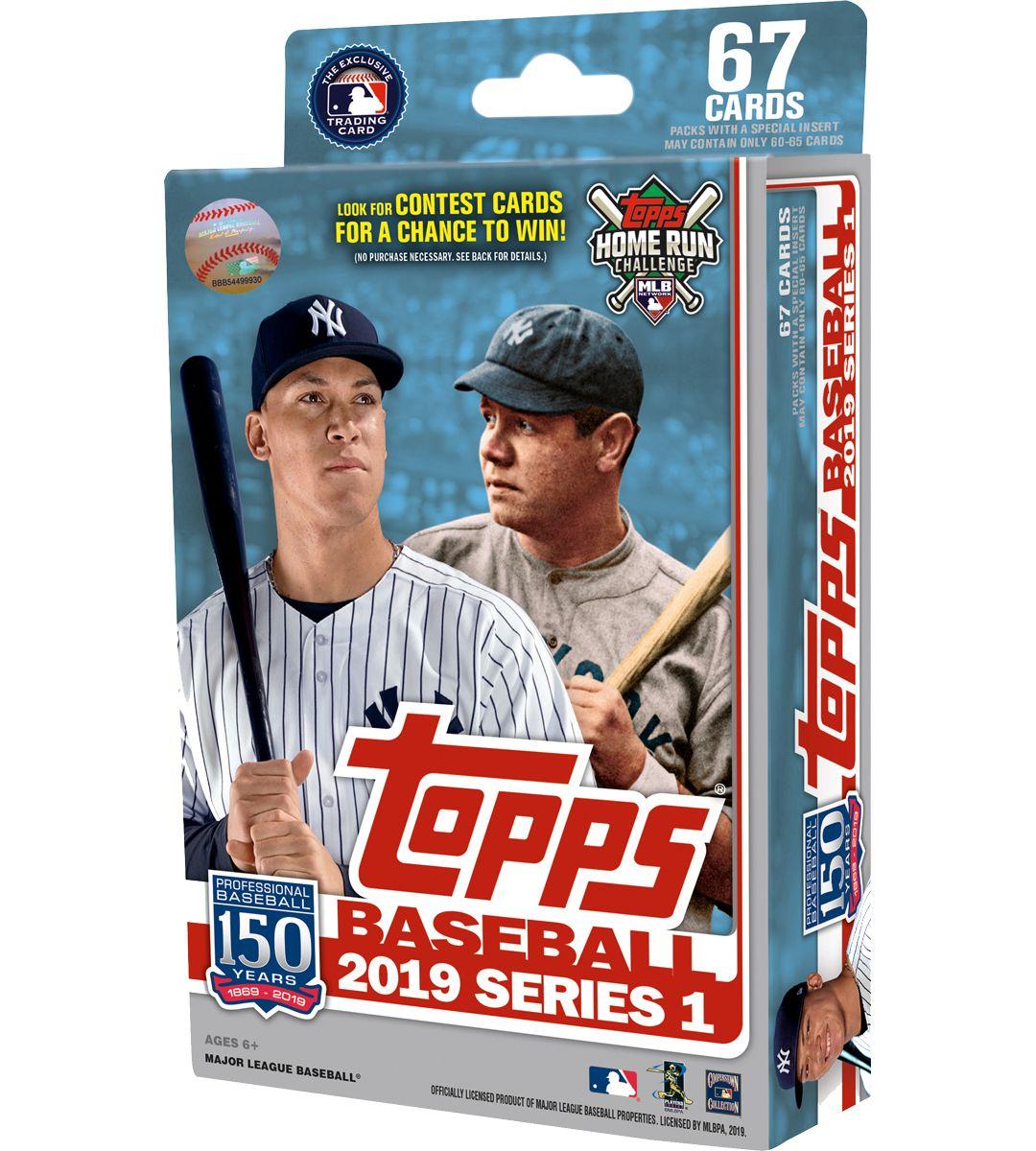 Topps Mlb 2019 Series One Trading Card Hanger Box