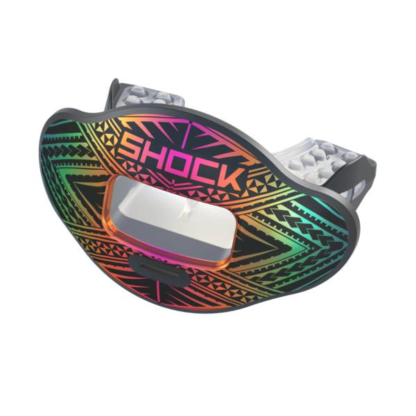 Shock Doctor Tribal Max AirFlow 2.0 Chrome Convertible Lip Guard product image