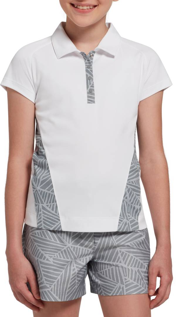 Slazenger Girls' Geo Printed Snap Button Golf Polo product image