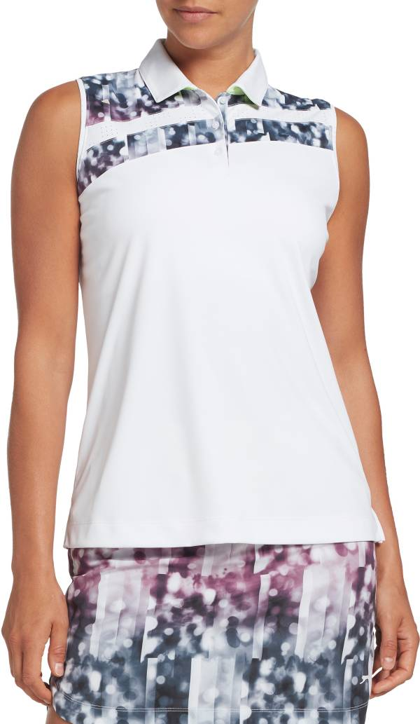 Slazenger Women's Asymmetrical Printed Sleeveless Golf Polo product image