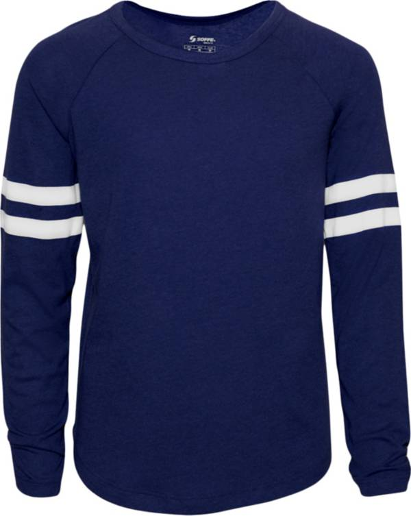 Soffe Girls' Crewneck Jersey Long Sleeve Shirt product image