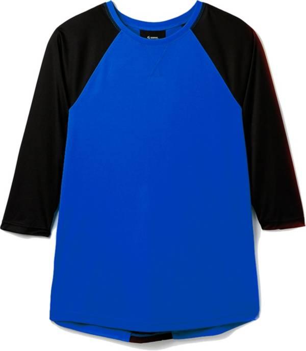 Soffe Girls' Pleated ¾ Sleeve Baseball Shirt product image