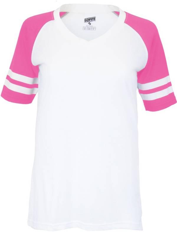 Soffe Girl's Retro Football T-Shirt product image