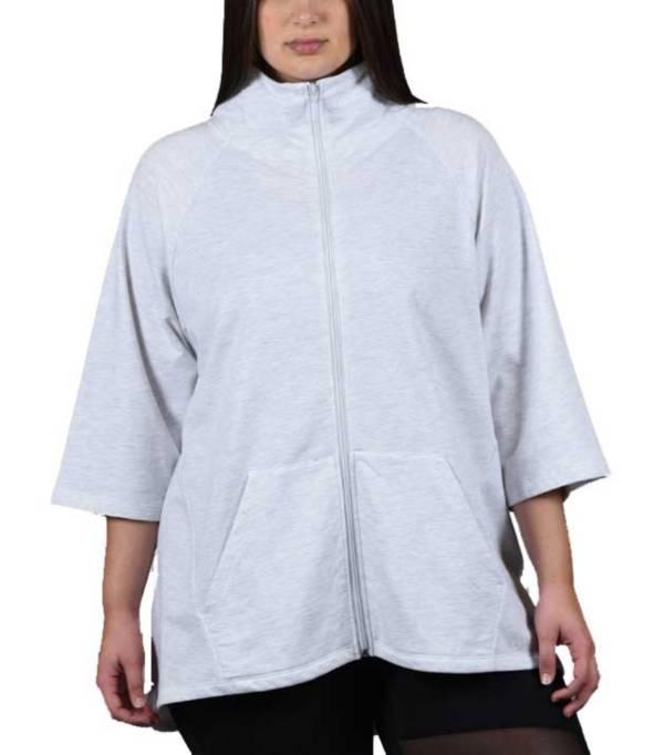 Soffe Juniors' Plus Size Hi Lo Slay Zip Jacket product image