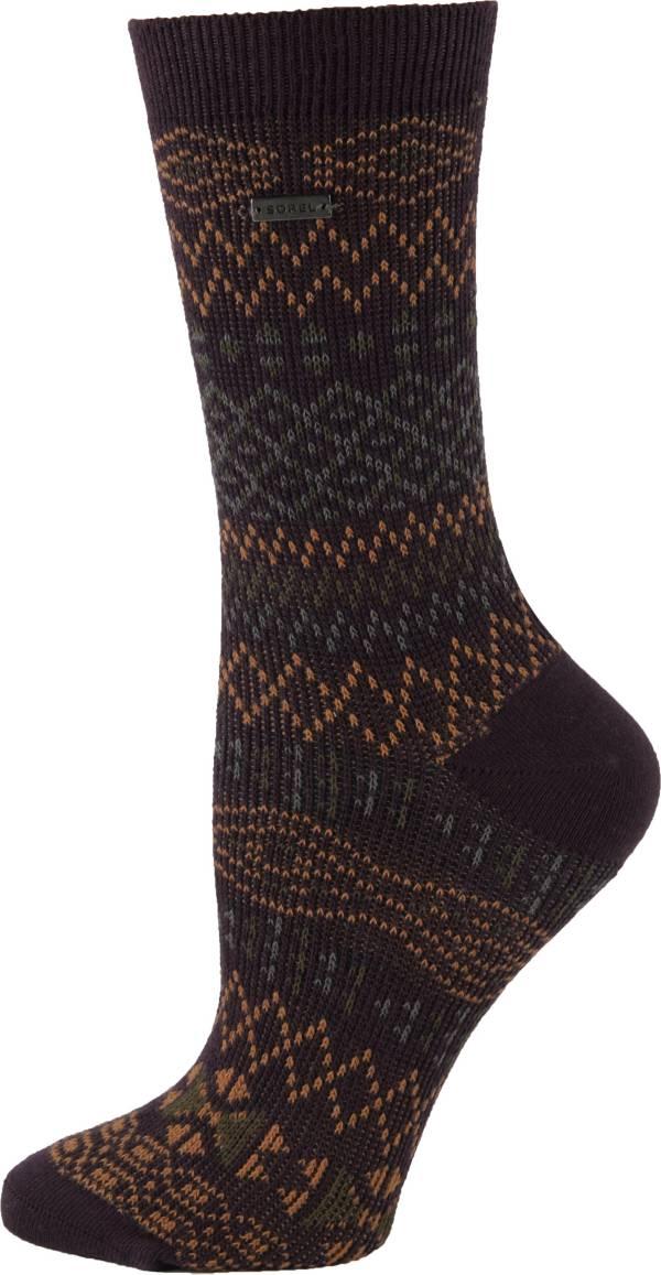 SOREL Women's Cotton Jacquard Pattern Crew Socks product image