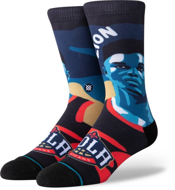 Stance Men's New Orleans Pelicans Zion Williamson Mosaic Crew Socks product image