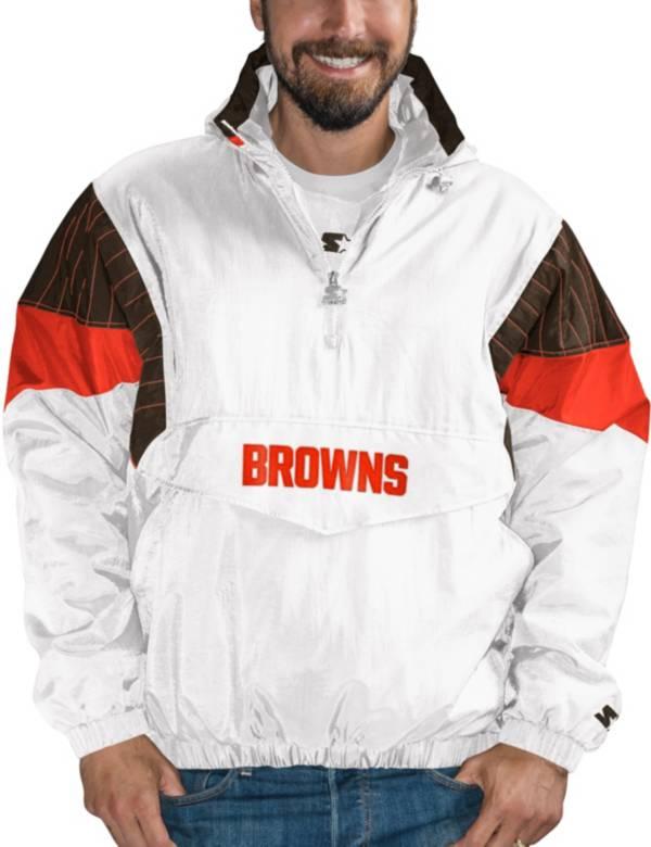 Starter Men's Cleveland Browns Breakaway White Quarter-Zip Jacket product image