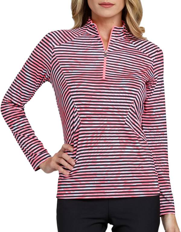 Tail Women's Stylized Striped Mock Neck Golf Top product image