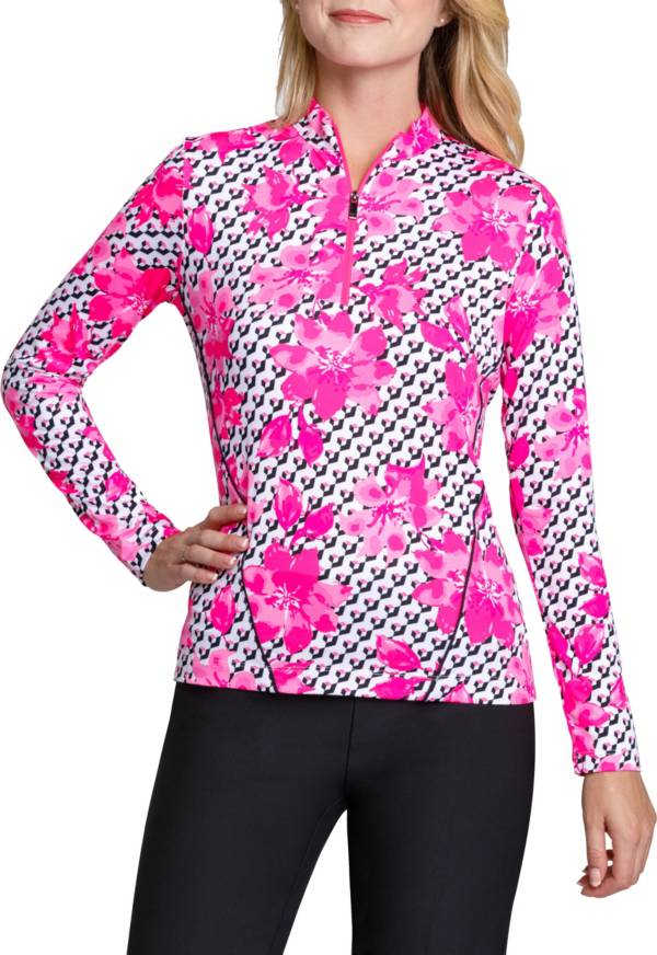 Tail Women's Long Sleeve Mini Mock Golf Top – Plus Size product image