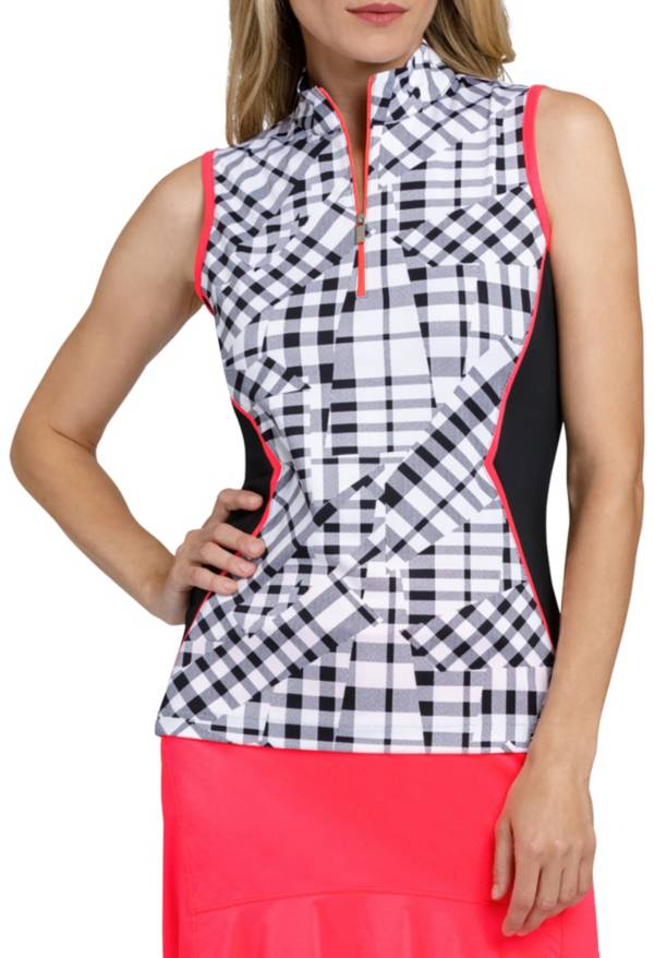 Tail Women's Gingham Sleeveless Golf Polo product image