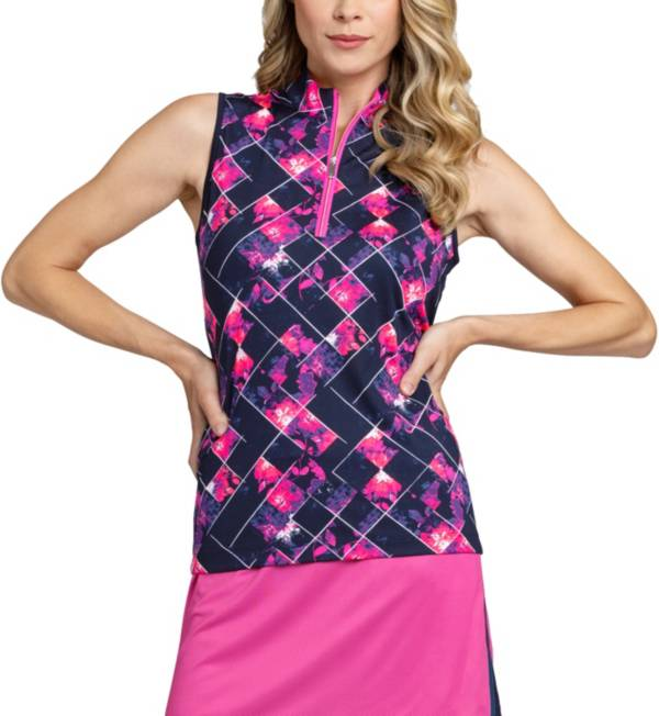 Tail Women's Sleeveless ¼ Zip Mock Neck Golf Top - Extended Sizes product image