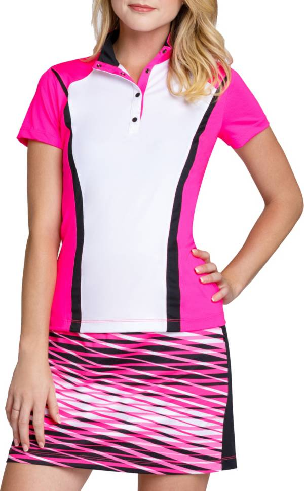 Tail Women's Short Sleeve Snap Button Golf Top product image