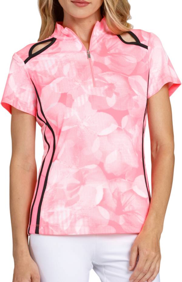 Tail Women's Short Sleeve Floral Mock Neck Golf Polo product image