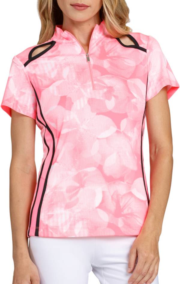 Tail Women's Floral Keyhole Cutout Mock Neck Golf Polo product image