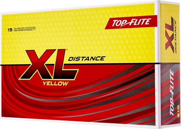 Top Flite 2019 XL Distance Yellow Golf Balls – 15 Pack product image
