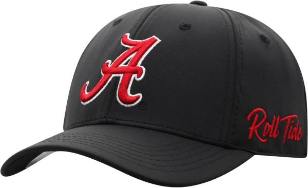 Top of the World Men's Alabama Crimson Tide Phenom 1Fit Flex Black Hat product image