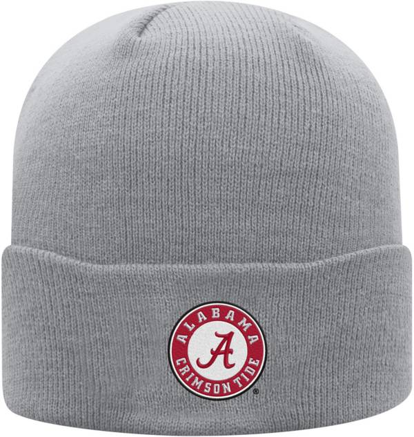 Top of the World Men's Alabama Crimson Tide Grey Cuff Knit Beanie product image