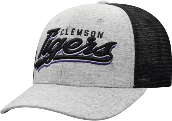 Top of the World Men's Clemson Tigers Grey/Black Cutter Adjustable Hat product image