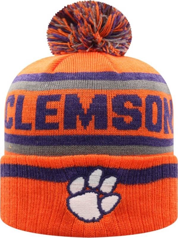Top of the World Men's Clemson Tigers Orange Buddy Cuffed Pom Knit Beanie product image