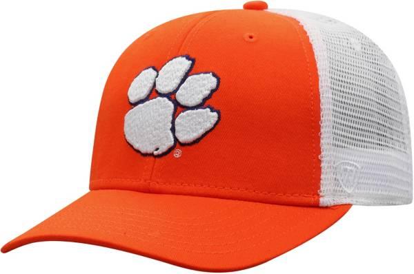 Top of the World Men's Clemson Tigers Orange/White Trucker Adjustable Hat product image