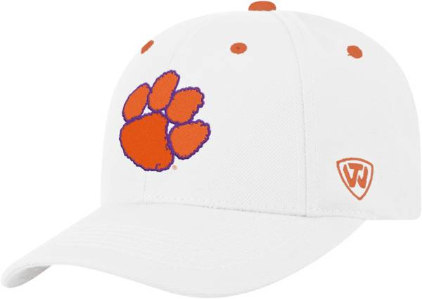 Top of the World Men's Clemson Tigers Triple Threat Adjustable White Hat product image