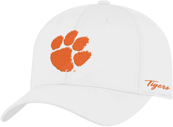 Top of the World Men's Clemson Tigers Phenom 1Fit Flex White Hat product image