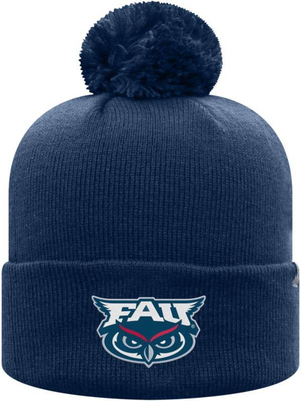 Top of the World Men's Florida Atlantic Owls Blue Pom Knit Beanie product image