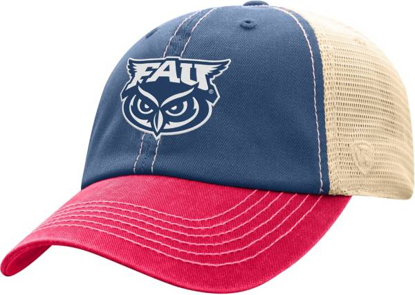 Top of the World Men's Florida Atlantic Owls Blue/White Off Road Adjustable Hat product image