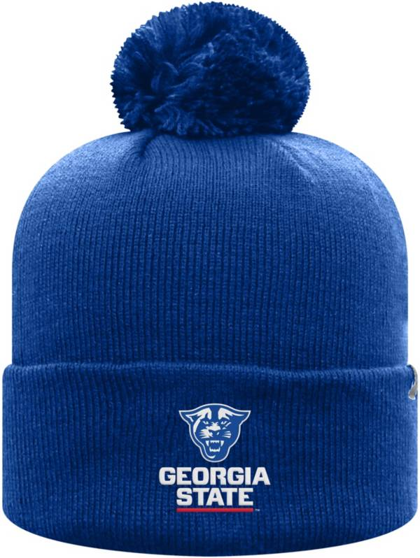 Top of the World Men's Georgia State  Panthers Royal Blue Pom Knit Beanie product image