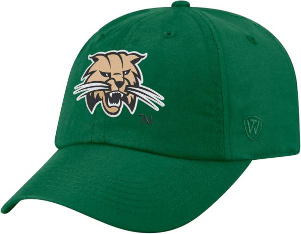 Top of the World Men's Ohio Bobcats Green Staple Adjustable Hat product image