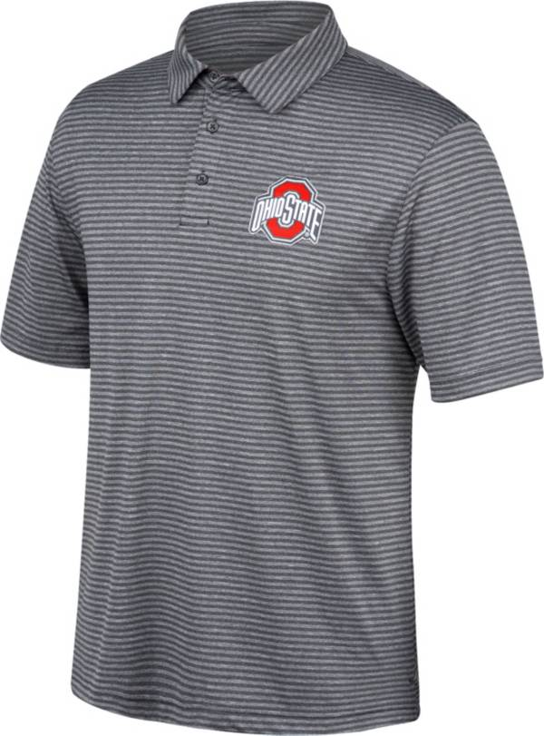 Scarlet & Gray Men's Ohio State Buckeyes Gray/Black Bunker Polo product image