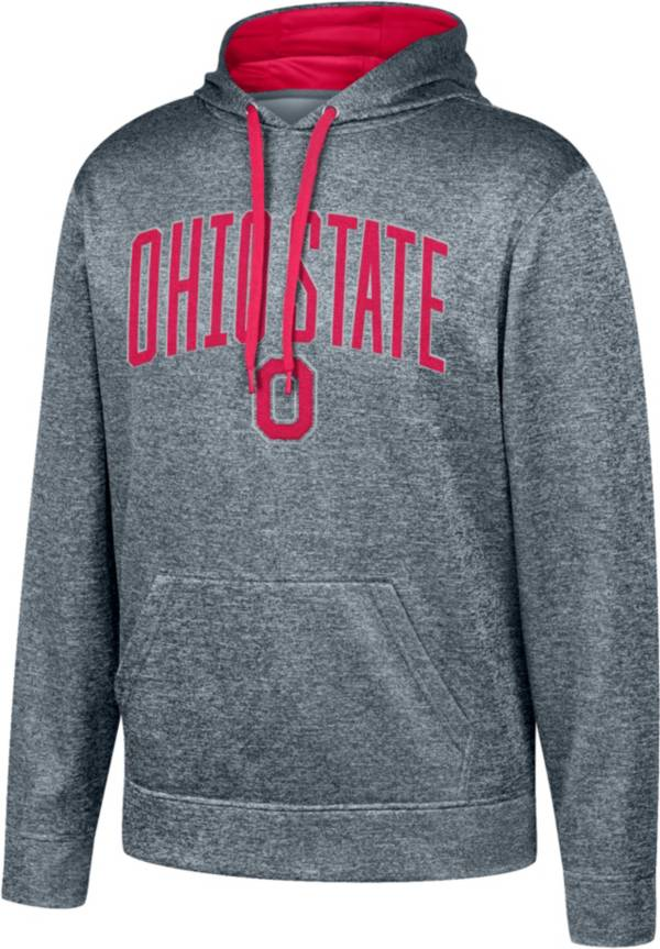 Scarlet & Gray Men's Ohio State Buckeyes Gray Foundation Poly Hoodie product image
