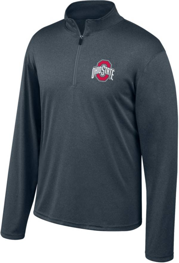 Scarlet & Gray Men's Ohio State Buckeyes Gray Quarter-Zip Shirt product image