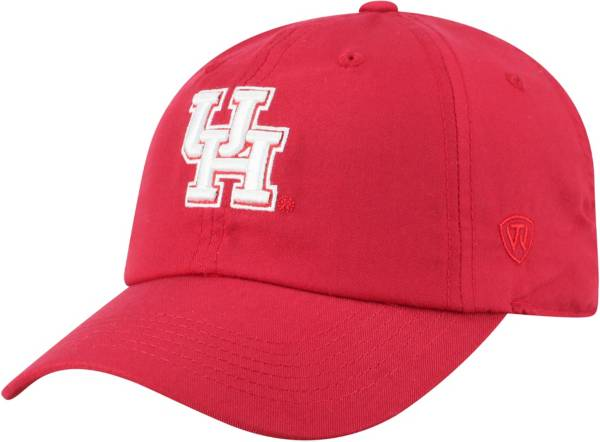 Top of the World Men's Houston Cougars Red Staple Adjustable Hat product image
