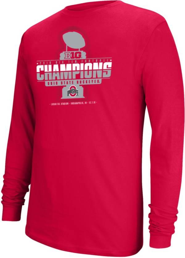 Scarlet & Gray Men's 2019 Big Ten Football Champions Ohio State Buckeyes Long Sleeve Locker Room T-Shirt product image