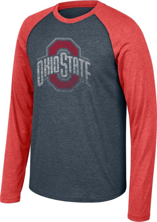 3eda4986 Scarlet & Gray Men's Ohio State Buckeyes Gray/Scarlet Long Sleeve ...