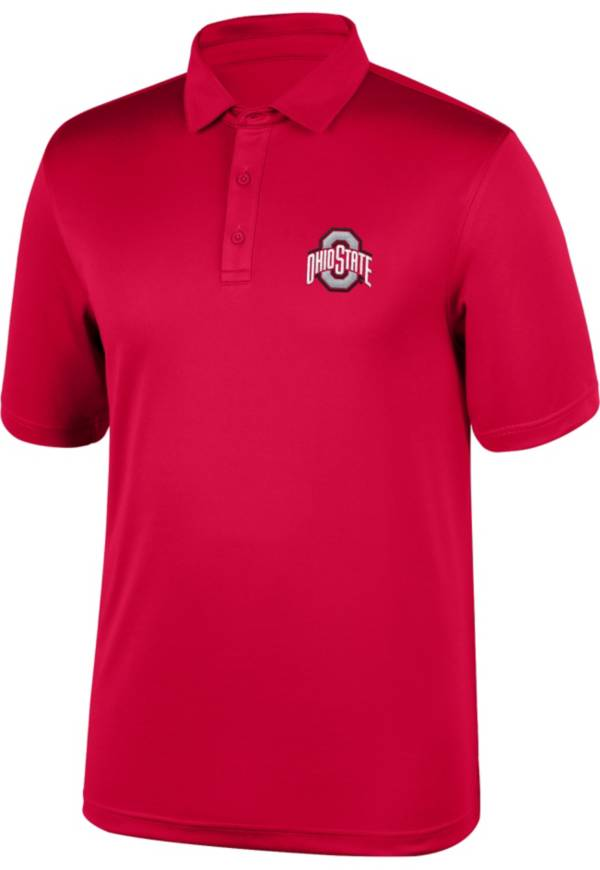 Scarlet & Gray Men's Ohio State Buckeyes Scarlet Carbon Polo product image