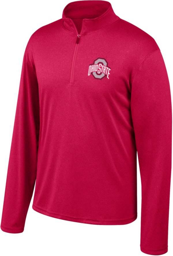 Scarlet & Gray Men's Ohio State Buckeyes Scarlet Quarter-Zip Shirt product image