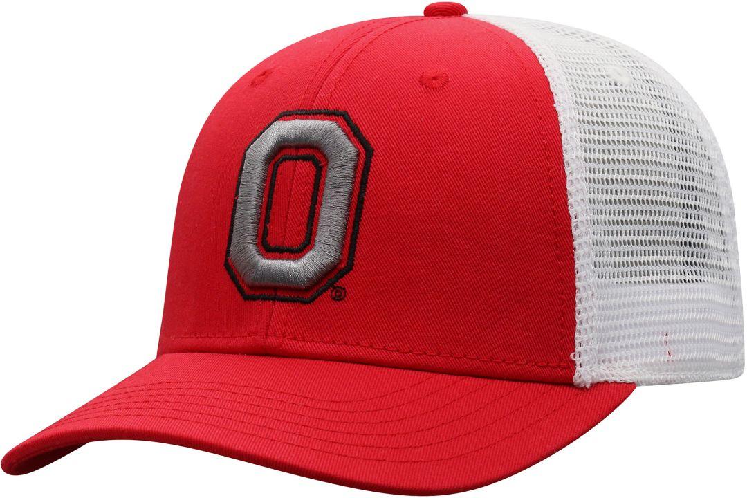 timeless design eda7c 07881 Top of the World Men s Ohio State Buckeyes Scarlet White Trucker Adjustable  Hat. noImageFound. Previous