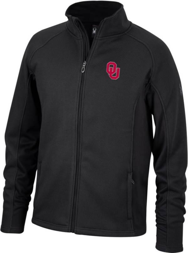 Spyder Men's Oklahoma Sooners Constant Full-Zip Fleece Black Jacket product image