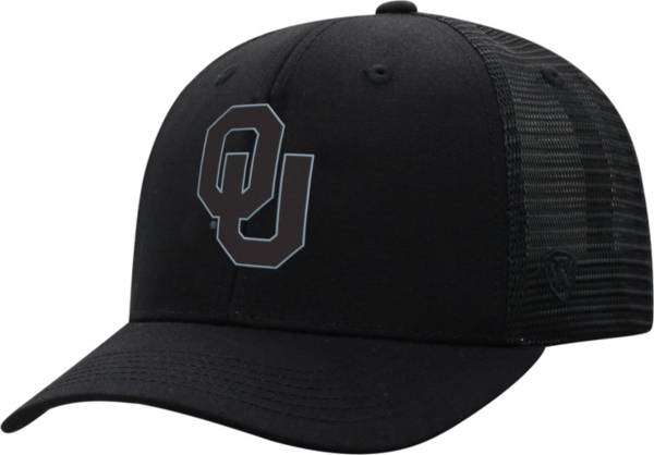 Top of the World Men's Oklahoma Sooners ZigZag Trucker Adjustable Black Hat product image
