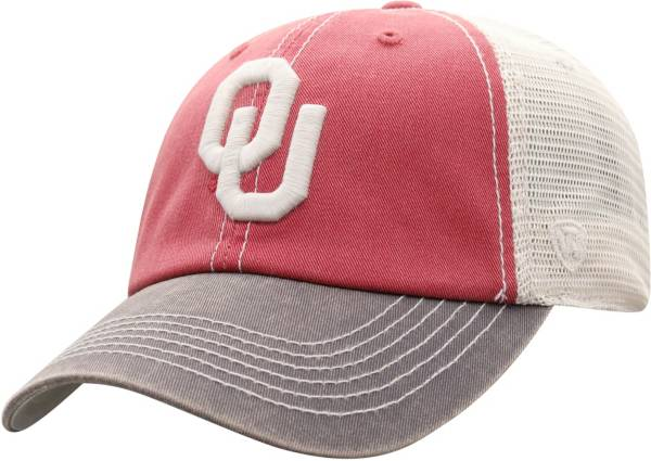 Top of the World Men's Oklahoma Sooners Crimson/White Off Road Adjustable Hat product image